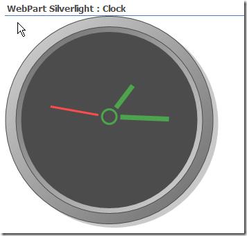 Silverlight Clock